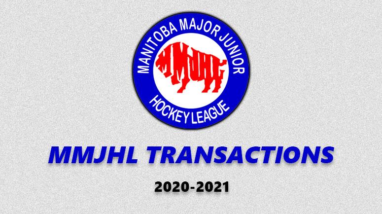 MMJHL Transactions 2020-2021